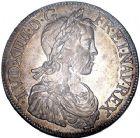 Photo numismatique  ARCHIVES VENTE 8 mars 2018 - Coll D. Fenouil ROYALES FRANCAISES LOUIS XIV (14 mai 1643-1er septembre 1715)  9- Écu blanc à la mèche longue, 1648, K, BORDEAUX.