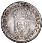Photo numismatique  ARCHIVES VENTE 8 mars 2018 - Coll D. Fenouil ROYALES FRANCAISES LOUIS XIV (14 mai 1643-1er septembre 1715)  10- Écu blanc à la mèche longue, 1649, N, MONTPELLIER.