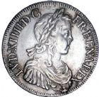 Photo numismatique  ARCHIVES VENTE 8 mars 2018 - Coll D. Fenouil ROYALES FRANCAISES LOUIS XIV (14 mai 1643-1er septembre 1715)  11- Écu blanc à la mèche longue, 1650, K, BORDEAUX.