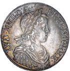 Photo numismatique  ARCHIVES VENTE 8 mars 2018 - Coll D. Fenouil ROYALES FRANCAISES LOUIS XIV (14 mai 1643-1er septembre 1715)  12- Écu blanc à la mèche longue, 1651, B, ROUEN.