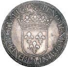 Photo numismatique  ARCHIVES VENTE 8 mars 2018 - Coll D. Fenouil ROYALES FRANCAISES LOUIS XIV (14 mai 1643-1er septembre 1715)  13- Écu blanc à la mèche longue, 1652, A, PARIS.