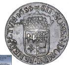 Photo numismatique  ARCHIVES VENTE 8 mars 2018 - Coll D. Fenouil ROYALES FRANCAISES LOUIS XIV (14 mai 1643-1er septembre 1715)  16- Écu de Béarn à la mèche longue, 1655, M, MORLAAS.