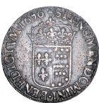 Photo numismatique  ARCHIVES VENTE 8 mars 2018 - Coll D. Fenouil ROYALES FRANCAISES LOUIS XIV (14 mai 1643-1er septembre 1715)  17- Écu de Navarre à la mèche longue, 1656, *V*, SAINT-PALAIS.