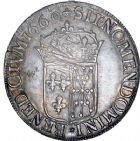 Photo numismatique  ARCHIVES VENTE 8 mars 2018 - Coll D. Fenouil ROYALES FRANCAISES LOUIS XIV (14 mai 1643-1er septembre 1715)  21- Écu de Navarre à la mèche longue, 1660, , SAINT-PALAIS.