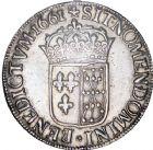 Photo numismatique  ARCHIVES VENTE 8 mars 2018 - Coll D. Fenouil ROYALES FRANCAISES LOUIS XIV (14 mai 1643-1er septembre 1715)  22- Écu de Navarre à la mèche longue, 1661, *+*, SAINT-PALAIS.
