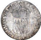 Photo numismatique  ARCHIVES VENTE 8 mars 2018 - Coll D. Fenouil ROYALES FRANCAISES LOUIS XIV (14 mai 1643-1er septembre 1715)  23- Écu de Navarre à la mèche longue, 1662, +, SAINT-PALAIS.