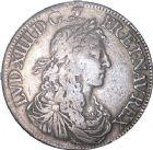 Photo numismatique  ARCHIVES VENTE 8 mars 2018 - Coll D. Fenouil ROYALES FRANCAISES LOUIS XIV (14 mai 1643-1er septembre 1715)  24- Écu blanc au buste juvénile, 1er type, 1662, A, PARIS.
