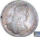 Photo numismatique  ARCHIVES VENTE 8 mars 2018 - Coll D. Fenouil ROYALES FRANCAISES LOUIS XIV (14 mai 1643-1er septembre 1715)  25- Écu blanc au buste juvénile, 1er type, 1663, L, BAYONNE.