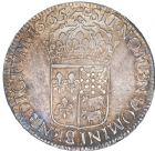 Photo numismatique  ARCHIVES VENTE 8 mars 2018 - Coll D. Fenouil ROYALES FRANCAISES LOUIS XIV (14 mai 1643-1er septembre 1715)  27- Écu de Béarn au buste juvénile, 1665, PAU.