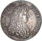 Photo numismatique  ARCHIVES VENTE 8 mars 2018 - Coll D. Fenouil ROYALES FRANCAISES LOUIS XIV (14 mai 1643-1er septembre 1715)  29- Écu blanc au buste juvénile, 2e type, 1667, 9, RENNES.