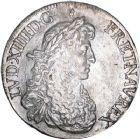 Photo numismatique  ARCHIVES VENTE 8 mars 2018 - Coll D. Fenouil ROYALES FRANCAISES LOUIS XIV (14 mai 1643-1er septembre 1715)  30- Écu blanc au buste juvénile, 2e type, 1668, 9, RENNES.