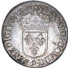 Photo numismatique  ARCHIVES VENTE 8 mars 2018 - Coll D. Fenouil ROYALES FRANCAISES LOUIS XIV (14 mai 1643-1er septembre 1715)  32- Écu blanc au buste juvénile, 2e type, 1670, 9, RENNES.