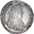 Photo numismatique  ARCHIVES VENTE 8 mars 2018 - Coll D. Fenouil ROYALES FRANCAISES LOUIS XIV (14 mai 1643-1er septembre 1715)  33- Écu blanc au buste juvénile, 2e type, 1671, 9, RENNES.