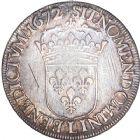 Photo numismatique  ARCHIVES VENTE 8 mars 2018 - Coll D. Fenouil ROYALES FRANCAISES LOUIS XIV (14 mai 1643-1er septembre 1715)  34- Écu blanc au buste juvénile, 2e type, 1672, L, BAYONNE.