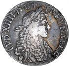 Photo numismatique  ARCHIVES VENTE 8 mars 2018 - Coll D. Fenouil ROYALES FRANCAISES LOUIS XIV (14 mai 1643-1er septembre 1715)  36- Écu blanc à la cravate, 1675, L, BAYONNE.