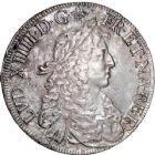 Photo numismatique  ARCHIVES VENTE 8 mars 2018 - Coll D. Fenouil ROYALES FRANCAISES LOUIS XIV (14 mai 1643-1er septembre 1715)  38- Écu de Béarn au buste juvénile, 1675, PAU.