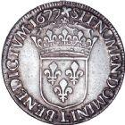 Photo numismatique  ARCHIVES VENTE 8 mars 2018 - Coll D. Fenouil ROYALES FRANCAISES LOUIS XIV (14 mai 1643-1er septembre 1715)  40- Écu blanc à la cravate, 1677, L, BAYONNE.
