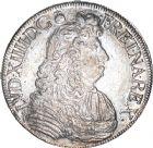 Photo numismatique  ARCHIVES VENTE 8 mars 2018 - Coll D. Fenouil ROYALES FRANCAISES LOUIS XIV (14 mai 1643-1er septembre 1715)  47- Écu blanc à la cravate, 1684, L, BAYONNE.