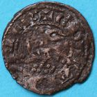 Photo numismatique  MONNAIES BARONNIALES Duché d'AQUITAINE EDOUARD, prince noir (1352-1372) Obole au léopard.