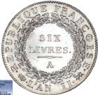 Photo numismatique  ARCHIVES VENTE 8 mars 2018 - Coll D. Fenouil MODERNES FRANÇAISES LA CONVENTION (22 septembre 1792 - 26 octobre 1795)  180- ÉCU de 6 livres, type