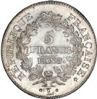 Photo numismatique  ARCHIVES VENTE 8 mars 2018 - Coll D. Fenouil MODERNES FRANÇAISES LE CONSULAT (à partir du 24 décembre 1799-18 mai 1804)  188- 5 FRANCS type Union et Force, variété