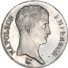 Photo numismatique  ARCHIVES VENTE 8 mars 2018 - Coll D. Fenouil MODERNES FRANÇAISES NAPOLEON Ier, empereur (18 mai 1804- 6 avril 1814)  195- 5 FRANCS Napoléon empereur (calendrier révolutionnaire), AN13, A, PARIS.