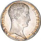 Photo numismatique  ARCHIVES VENTE 8 mars 2018 - Coll D. Fenouil MODERNES FRANÇAISES NAPOLEON Ier, empereur (18 mai 1804- 6 avril 1814)  196- 5 FRANCS Napoléon empereur (calendrier révolutionnaire), AN14, A, PARIS.