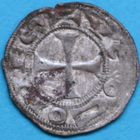 Photo numismatique  MONNAIES BARONNIALES Comté de RODEZ HUGUES II (vers 1156 - 1210) Denier.