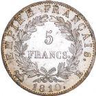 Photo numismatique  ARCHIVES VENTE 8 mars 2018 - Coll D. Fenouil MODERNES FRANÇAISES NAPOLEON Ier, empereur (18 mai 1804- 6 avril 1814)  203- 5 FRANCS au revers Empire Français, 1810, B, ROUEN.