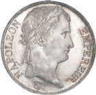Photo numismatique  ARCHIVES VENTE 8 mars 2018 - Coll D. Fenouil MODERNES FRANÇAISES NAPOLEON Ier, empereur (18 mai 1804- 6 avril 1814)  206- 5 FRANCS au revers Empire Français, 1813, W, LILLE.