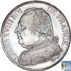 Photo numismatique  ARCHIVES VENTE 8 mars 2018 - Coll D. Fenouil MODERNES FRANÇAISES LOUIS XVIII, 1ère restauration (3 mai 1814-20 mars 1815)  209- 5 FRANCS Louis XVIII, type au buste habillé, 1815, A, PARIS.