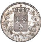 Photo numismatique  ARCHIVES VENTE 8 mars 2018 - Coll D. Fenouil MODERNES FRANÇAISES LOUIS XVIII, 2e restauration (8 juillet 1815-16 septembre 1824)  212- 5 FRANCS 5 F, Louis XVIII type au buste nu, 1817, B, ROUEN.