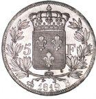 Photo numismatique  ARCHIVES VENTE 8 mars 2018 - Coll D. Fenouil MODERNES FRANÇAISES LOUIS XVIII, 2e restauration (8 juillet 1815-16 septembre 1824)  214- 5 FRANCS 5 F, Louis XVIII type au buste nu, 1819, B, ROUEN.