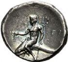 Photo numismatique  ARCHIVES VENTE 12 juin 2018 GRÈCE ANTIQUE Italie - Calabre Tarente Pyrrhus d'Epire (vers 281-272) 4- Statère. Sous Pyrrhus d'Epire (281-272).