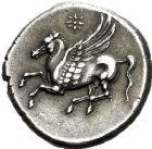 Photo numismatique  ARCHIVES VENTE 12 juin 2018 GRÈCE ANTIQUE SICILE Syracuse Règne d'Agathoclès (317-289) 17- Statère de 8 litrae.