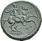 Photo numismatique  ARCHIVES VENTE 12 juin 2018 GRÈCE ANTIQUE SICILE Syracuse Hiéron II et sa Maison (274-216) 18- Bronze.