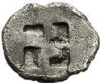 Photo numismatique  ARCHIVES VENTE 12 juin 2018 GRÈCE ANTIQUE THRACE ET GRÈCE CONTINENTALE ILES DE THRACE. THASOS 25-  1/8ème de statère, (vers 463-411).