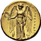 Photo numismatique  ARCHIVES VENTE 12 juin 2018 GRÈCE ANTIQUE THRACE ET GRÈCE CONTINENTALE Rois de MACÉDOINE. ALEXANDRE III le Gd (336-323) 28- Statère d'or, Milet, (323/319).