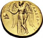 Photo numismatique  ARCHIVES VENTE 12 juin 2018 GRÈCE ANTIQUE THRACE ET GRÈCE CONTINENTALE Rois de MACÉDOINE. ALEXANDRE III le Gd (336-323) 29- Statère d'or, Mésembrie, (250/175).
