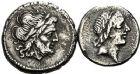 Photo numismatique  ARCHIVES VENTE 12 juin 2018 RÉPUBLIQUE ROMAINE Monnayage anonyme (après 211)  63- Lot de 2 monnaies, Victoriat et quinaire.