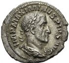 Photo numismatique  ARCHIVES VENTE 12 juin 2018 EMPIRE ROMAIN MAXIMIN Ier (235-238)  90. Denier, Rome.