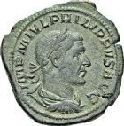 Photo numismatique  ARCHIVES VENTE 12 juin 2018 EMPIRE ROMAIN PHILIPPE Ier (244-249)  95- Sesterce, Rome.