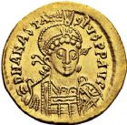 Photo numismatique  ARCHIVES VENTE 12 juin 2018 EMPIRE BYZANTIN ANASTASE Ier (491-518)  116- Solidus, Constantinople, officine Z retournée.