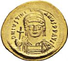 Photo numismatique  ARCHIVES VENTE 12 juin 2018 EMPIRE BYZANTIN JUSTINIEN Ier (527-565)  117- Solidus, Constantinople, officine S.