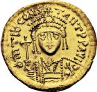 Photo numismatique  ARCHIVES VENTE 12 juin 2018 EMPIRE BYZANTIN TIBÈRE CONSTANTIN (578-582)  122- Solidus, Constantinople, officine Z retourné.
