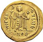 Photo numismatique  ARCHIVES VENTE 12 juin 2018 EMPIRE BYZANTIN PHOCAS (602-610)  126-  Solidus, Constantinople, officine E.
