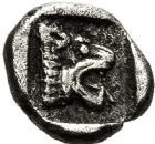 Photo numismatique  ARCHIVES VENTE 12 juin 2018 IBERIE- GAULE - CELTES Type du TRÉSOR D'AURIOL  140-  Obole phocaïque (470-460), griffon.