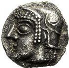 Photo numismatique  ARCHIVES VENTE 12 juin 2018 IBERIE- GAULE - CELTES MARSEILLE  143- Monnayage archaïque. Hémiobole milésiaque (475-465).
