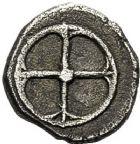 Photo numismatique  ARCHIVES VENTE 12 juin 2018 IBERIE- GAULE - CELTES MARSEILLE  145- Obole phocaïque à la tête casquée (440-410).