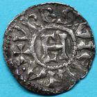 Photo numismatique  MONNAIES BARONNIALES Archevêché de VIENNE HENRI LE NOIR Roi de Bourgogne (1038-1056) Denier.